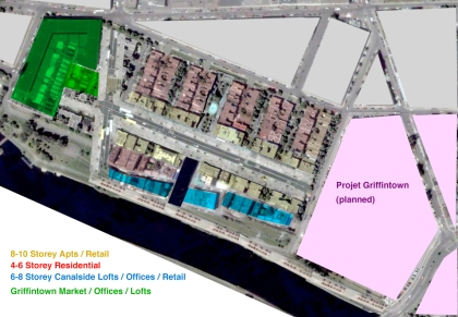 New Griffintown - Proposed heights and land uses